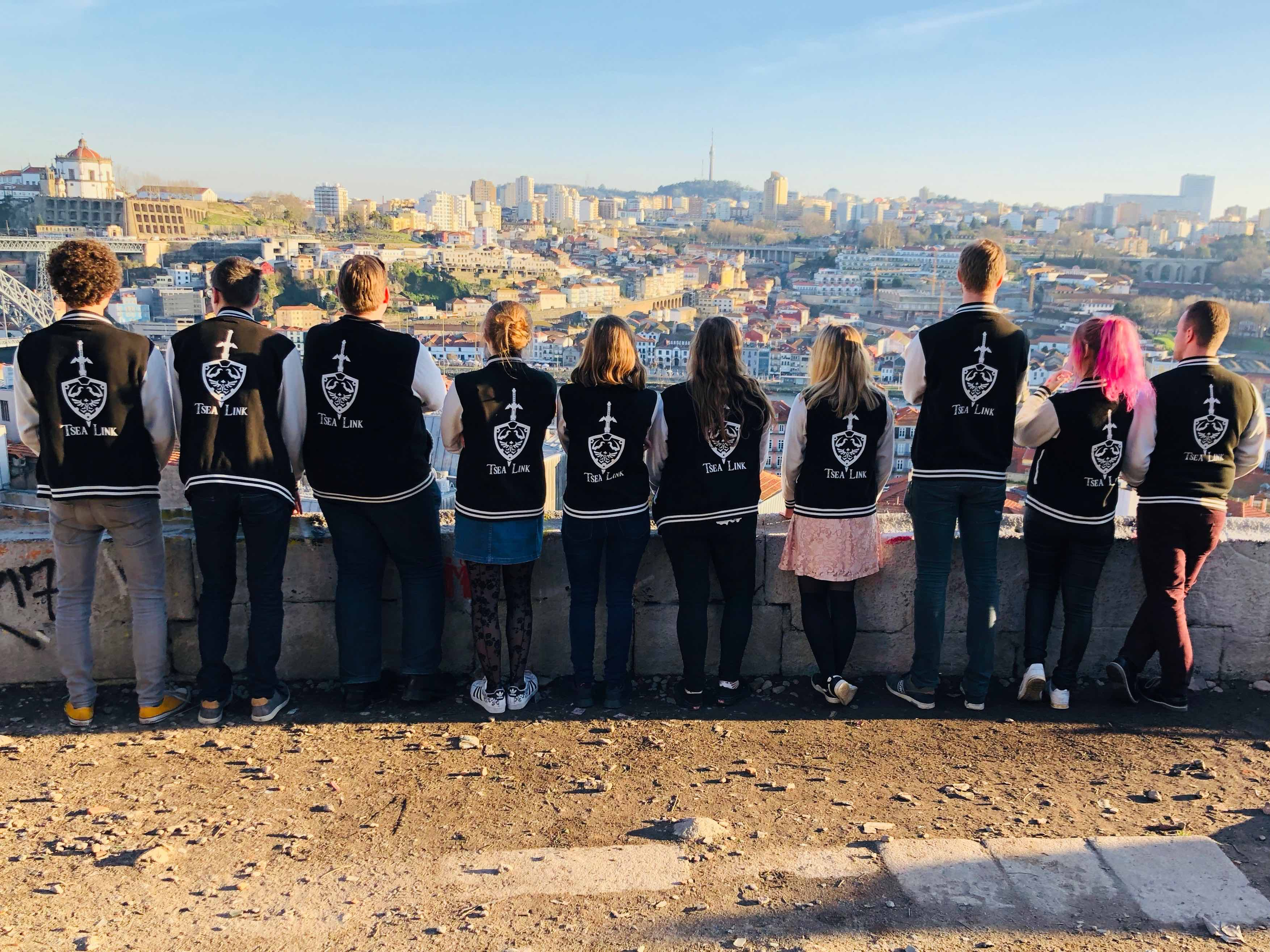 Link Members in Porto looking over the river and city